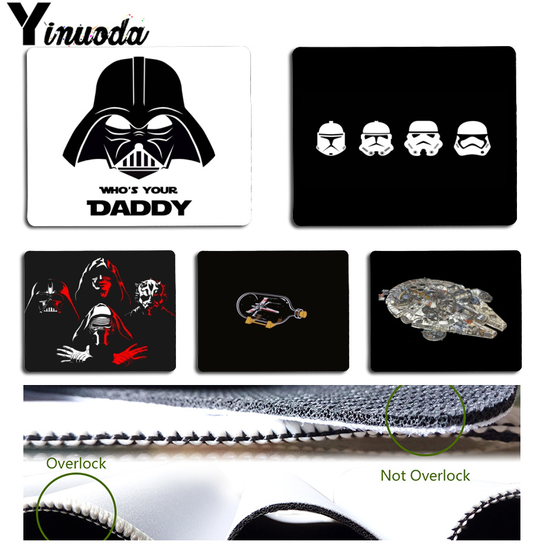 Yinuoda StarWars Stormtrooper Robot R2D2 Who is Your Daddy Laptop Gaming Mice Mousepad Size for 18x22x0.2cm Gaming Mousepads image