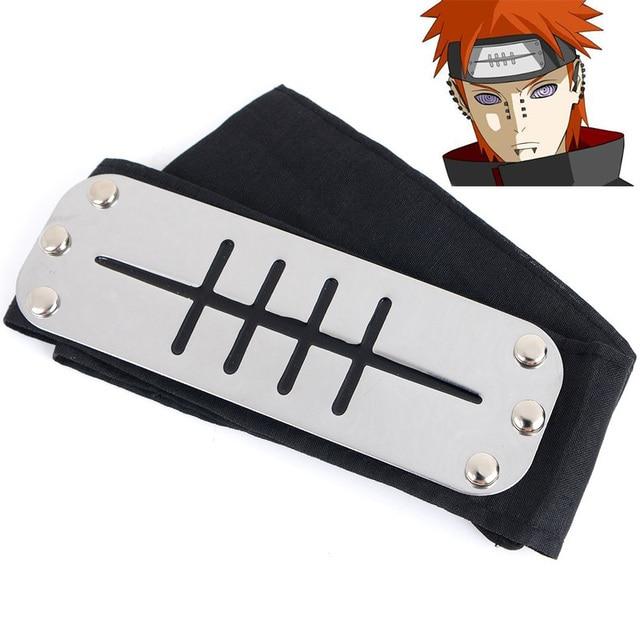 Anime Naruto Cosplay Headband Prop Sasuke Uchiha Itachi Kakashi Pein Black Blue Konohagakurenosato 5