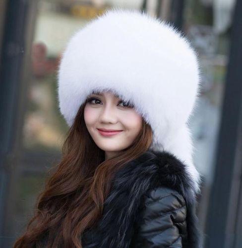 940710a7c8045 Winter Women Real Raccoon Fox Fur Hat Russian Mongolia cap Ski Earflap hats  new on Aliexpress.com