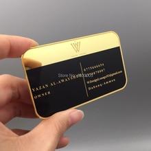 купить wholesale high quality personalized gold mirror metal business card недорого