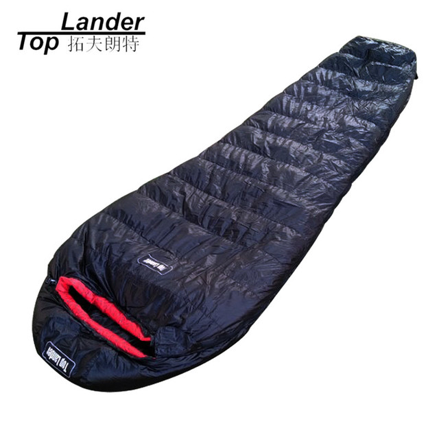 Winter Outdoor White Goose Down Sleeping Bag Warm Mummy Bags Hiking Backng Waterproof