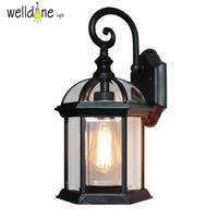 Europe retro wall lights sconces outdoor waterproof porch wall lamp garden light on the wall landscape balcony lamp