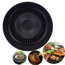 Koreanischen Stil Haushalt Rauchfreien Antihaft-grill Grillpfanne Grill Backen Kochen Blätter Kochen Werkzeug Küche Zubehör
