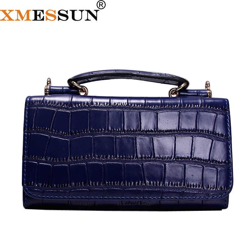 adf9df4dc187 Для женщин натуральной кожи клатч Синий крокодил картина сумки Для женщин  сумка Креста тела Bolsas браслет