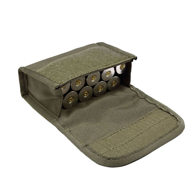 Tactical 10 Rounds Shotshell Reload Holder Molle Pouch för 12 Gauge / 20G Magazine Ammo Round Cartridge Holder Tactical Pouch