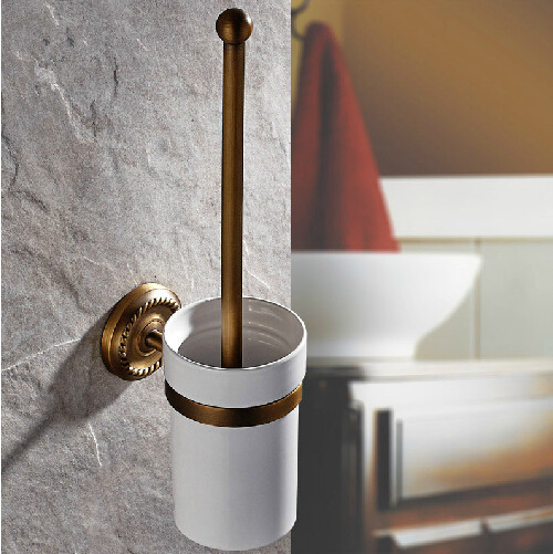 Bathroom accessories bathroom brush holder Antique brass wall toilet ceramic set - Victory Top Sanitary Ware store