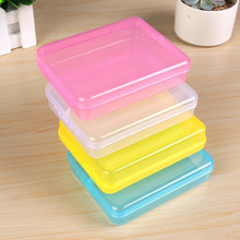 4 Color Mini Small Plastic Transparent With Lid With Lid Collection Credit Card Bank Card Container Case Storage Box(China)
