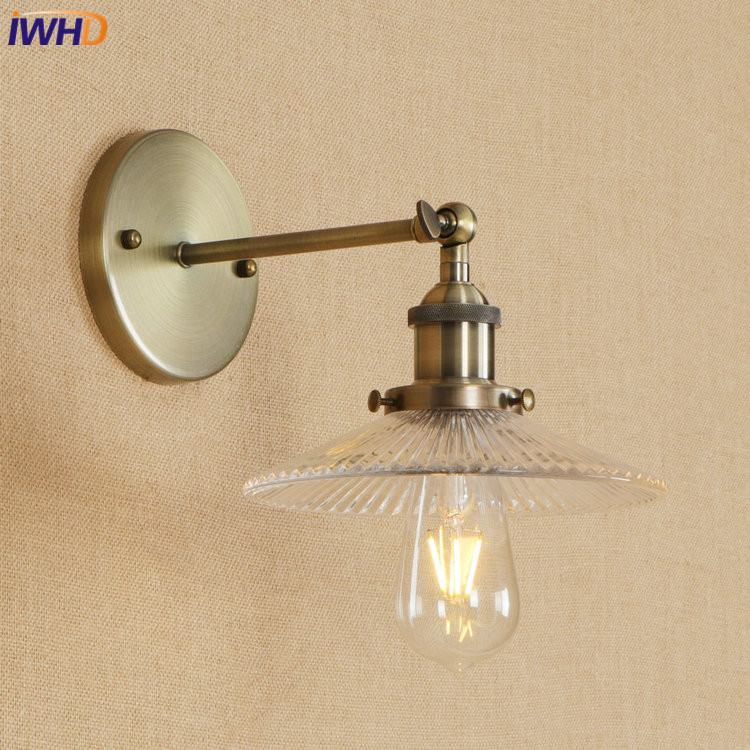 IWHD Nordic Loft Edison LED Wall Lamp Iron Adjustable Nordic Wandlamp Glass Retro Bathroom Light Sconce Fixtures Home LightingIWHD Nordic Loft Edison LED Wall Lamp Iron Adjustable Nordic Wandlamp Glass Retro Bathroom Light Sconce Fixtures Home Lighting