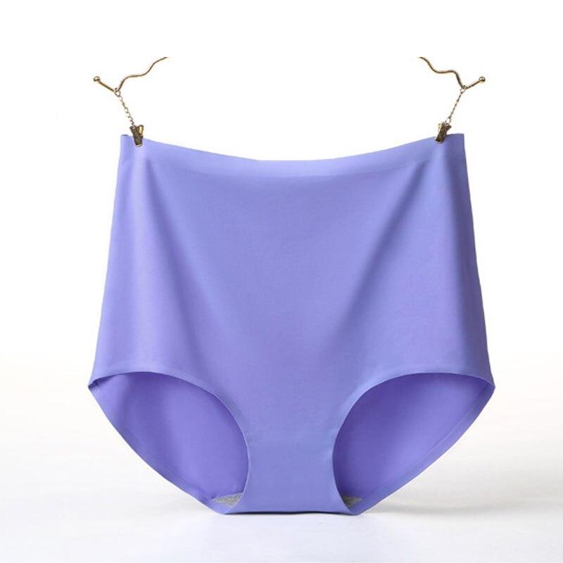 Q013 4Pcs/Lot Ladies Underwear High Quality Women   Panties   Solf Ice Silk Seamless Briefs Body Slimming Female Lingerie Plus Size