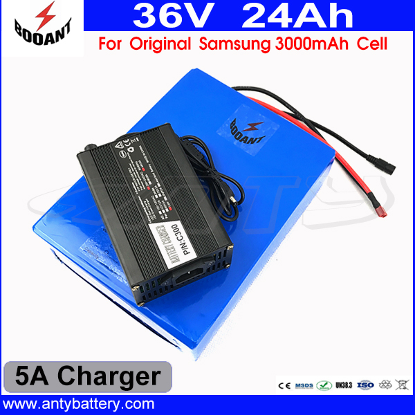 E-Bike Battery 36V 24AH Lithium ion Battery 36V For Bafang Motor 1000W Built-in 30A BMS With 5A Charger For Original 18650 Cell 30a 3s polymer lithium battery cell charger protection board pcb 18650 li ion lithium battery charging module 12 8 16v