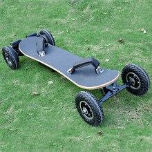 Электрический самокат 4 колесный Электрический скейтборд Лонгборд увеличенная доска Электронный скутер Ховерборд деревянная доска двойной мотор 1200 Вт Мощность