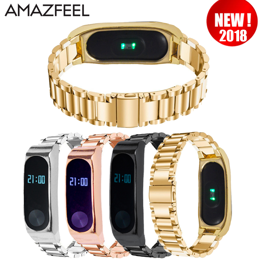 Mi Band 2 Strap Metal Screwless Stainless Steel Bracelet for Xiaomi Mi Band 2 Strap Replace Miband 2 Strap