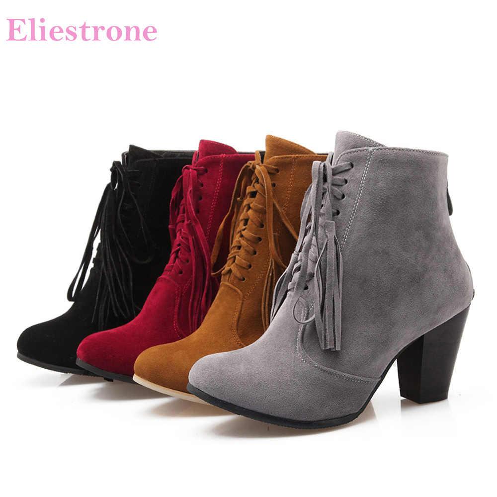 black 3 inch heel boots