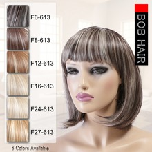 Neitsi 14'' Straight Short Bobo Hairstyle Heat Resistant Synthetic Wigs With Bangs Piano Color Cosplay Wigs For Women 160g/pc цена