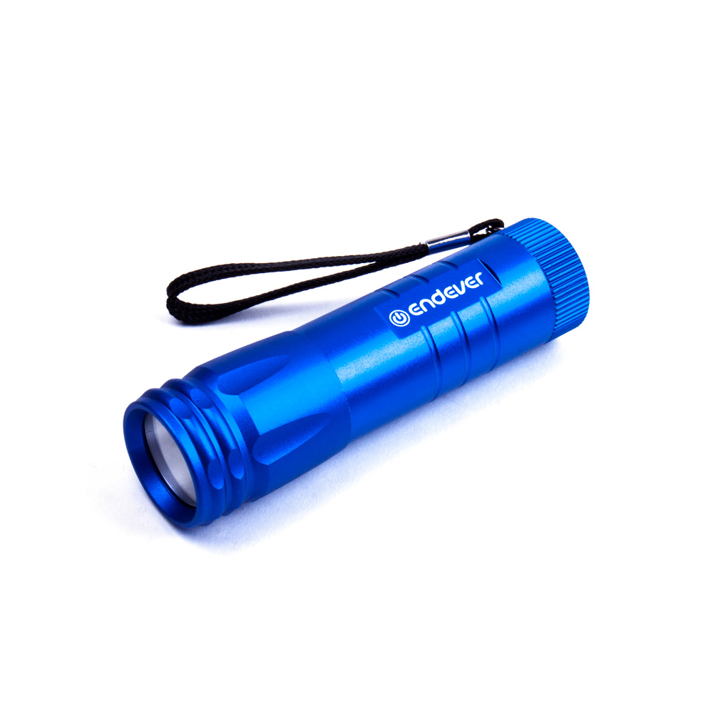 Flashlight pocket Endever Elight F-114 blue 97104 powerful handlight outdoor tactical flashlight 1300lm tactical led flashlight torch outdoor waterproof aluminum alloy