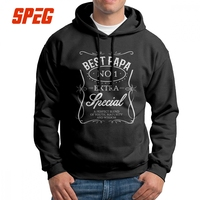 Men Sweatshirt Best Papa Father's Day Dad Pure Cotton Graphic Novelty Hoodies Pullovers