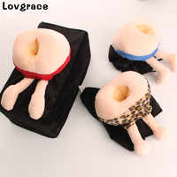 Creative Funny Ass Styling Tissue Box Home Bathroom Toilet Paper Napkin Holder Case Car Storage Boxes Tissue Paper Creative Gift