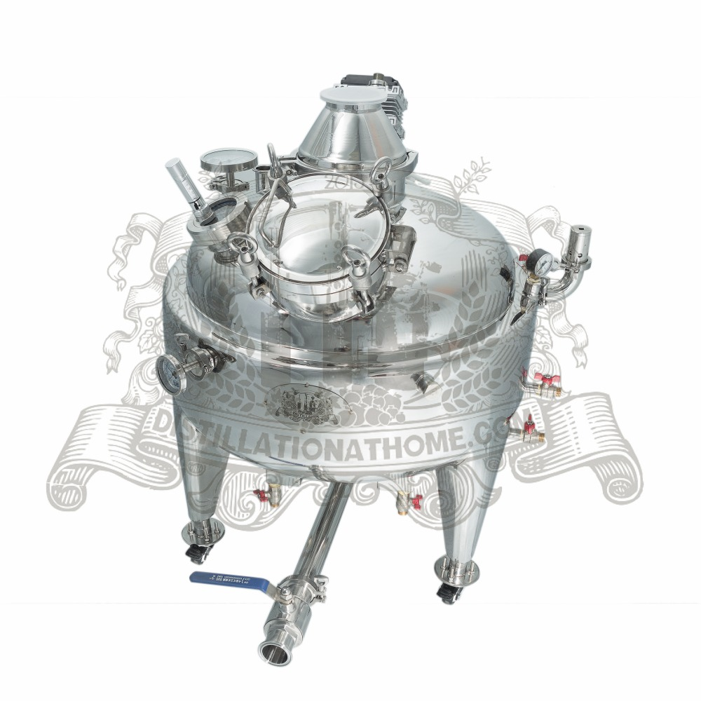 NEW 100l steam jacket SS304 boiler for distillation.