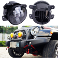 2 pcs Led Round 4 polegada luzes de nevoeiro 30 w 4 ''luz de nevoeiro lente Do Projetor Led de Condução Local Farol Para Offroad Jeep Wrangler Dodge