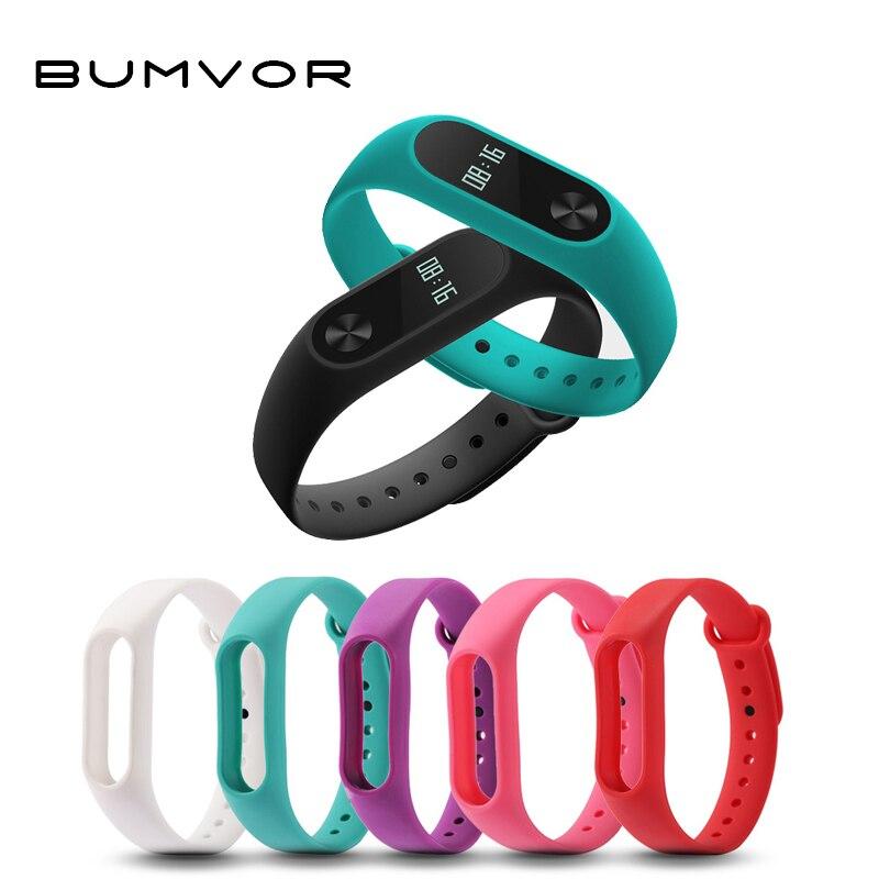 BUMVOR 1 Pcs Xiaomi Mi Band 2 Wrist Strap Belt Silicone Colorful Wristband For Mi Band 2  Bracelet For Xiaomi Band 2 Accessories