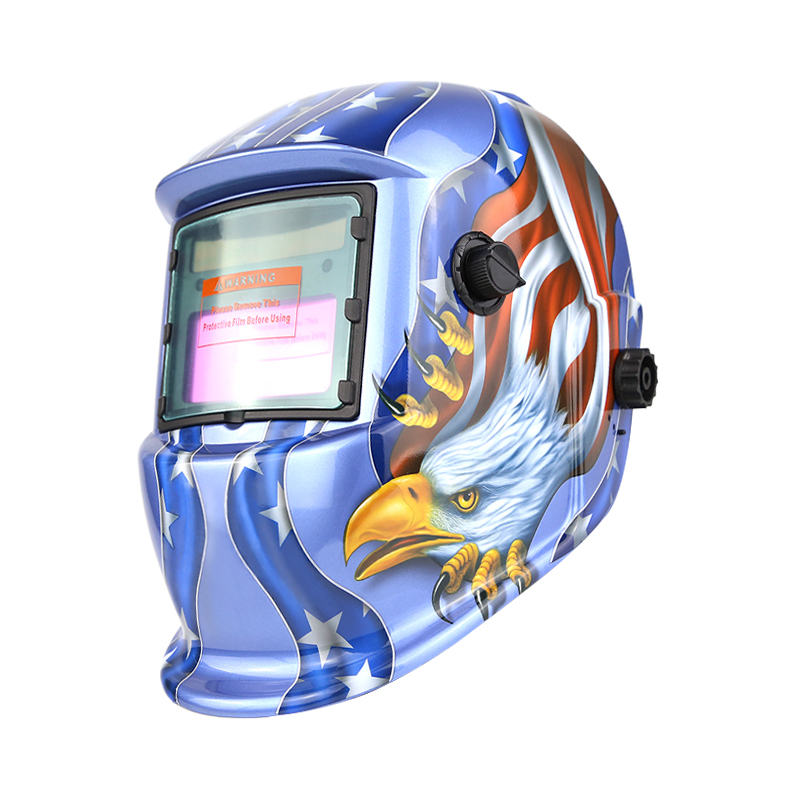 Welding Helmet/Mask for Mig Tig Arc Blue Eagle Solar Powered Auto Darkening Welding Hood/Cap with Adjustable Shade Range 4/9-13 solar powered auto darkening welding helmet adjustable shade range 4 9 13 for mig tig arc welder mask diversify design