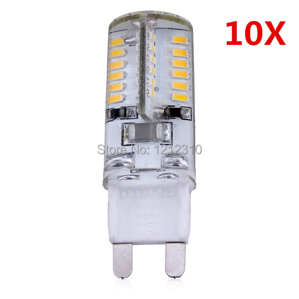 10pcs/Lot 3W G9 LED Bulb Light 220V Super Bright SMD 3014 Equal To 5W G9 Luminance Flux Replace 30W Halogen Lamp 360 Beam Angle goodland g9 led lamp 5w 220 240v led g9 bulb smd2835 christmas chandelier led light 360 beam angle replace halogen lamps