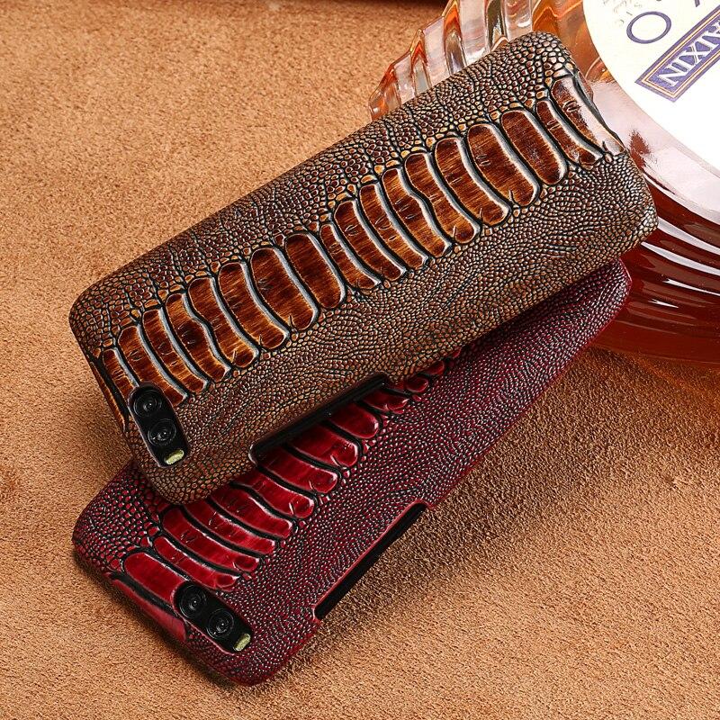 LANGSIDI marque coque de téléphone autruche pied grain demi-enveloppé étui de téléphone pour xiaomi mi 6 coque de téléphone à la main traitement personnalisé