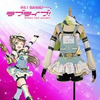 Anime Love Live! Minami Kotori Cos Awakening Crayon/Painter Cosplay Costume Custom Dress Shorts Adult Stockings Hat Scarf Gloves