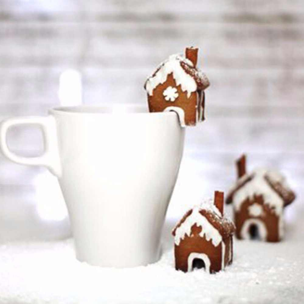 3Pcs Natal Gingerbread House Biskuit Cutter Set Stainless Steel Cookie Cetakan