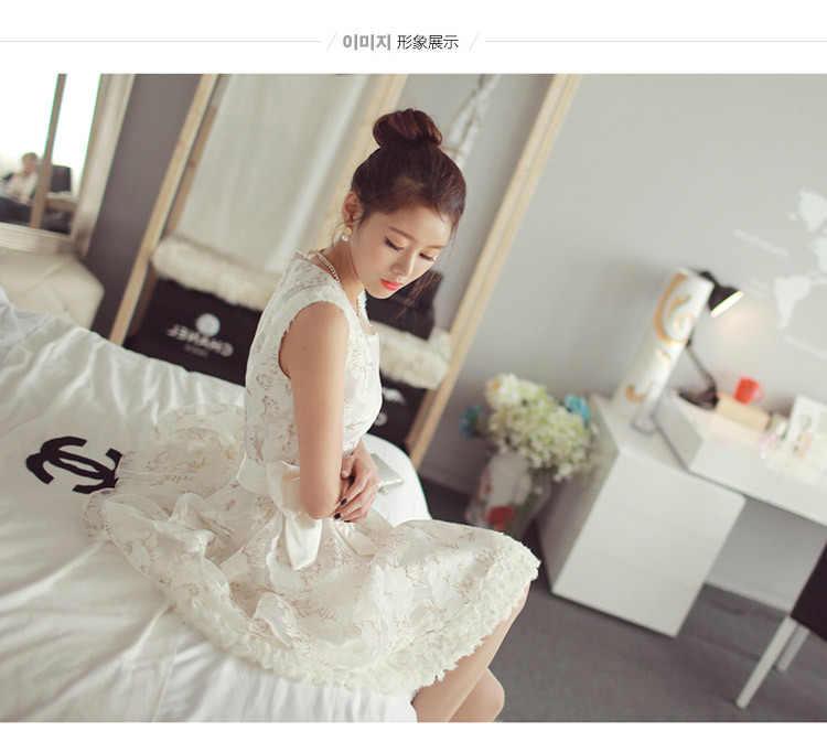 2019 สาวฤดูร้อนเสื้อผ้าสีขาวเจ้าหญิงเด็กสาวชุดลูกไม้วัยรุ่น 12 14 16 ปี robe ผู้หญิงสาวชุด