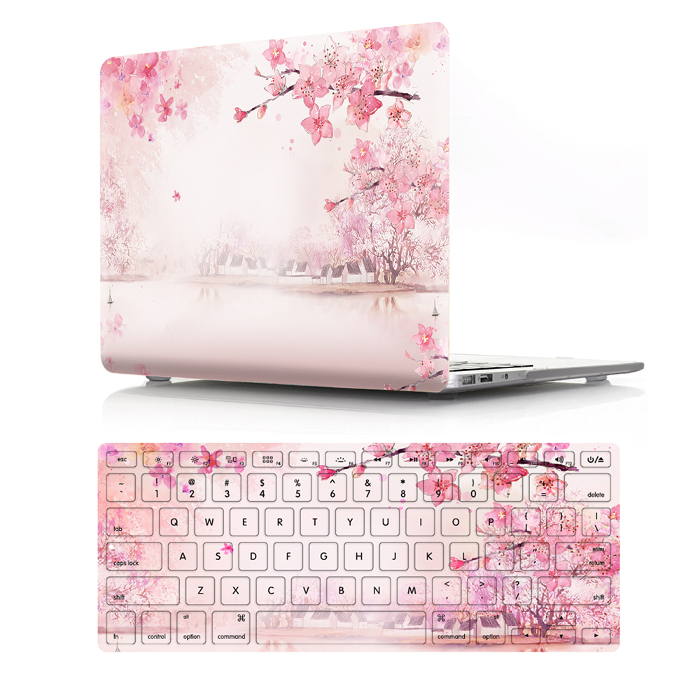 """Image 2 - Viviration Hot PVC Laptop Case W. Silicone Keyboard Cover Fashion Computer Accessories Set For Macbook Air 11 13 Pro 13.3 15.4""""-in Laptop Bags & Cases from Computer & Office"""