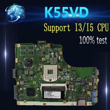 Amazoon K55VD материнская плата для ноутбука ASUS K55VD K55A A55VD F55VD K55V K55 Тесты оригинальная материнская плата Поддержка для I3 I5 Процессор