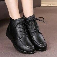 ฤดูหนาวใหม่แม่รองเท้าผ้าฝ้ายแฟชั่นสบายสบายกลาง-อายุรองเท้าผู้หญิงแบนอบอุ่นกับบู๊ทส์ล่างนุ่มขนาด40