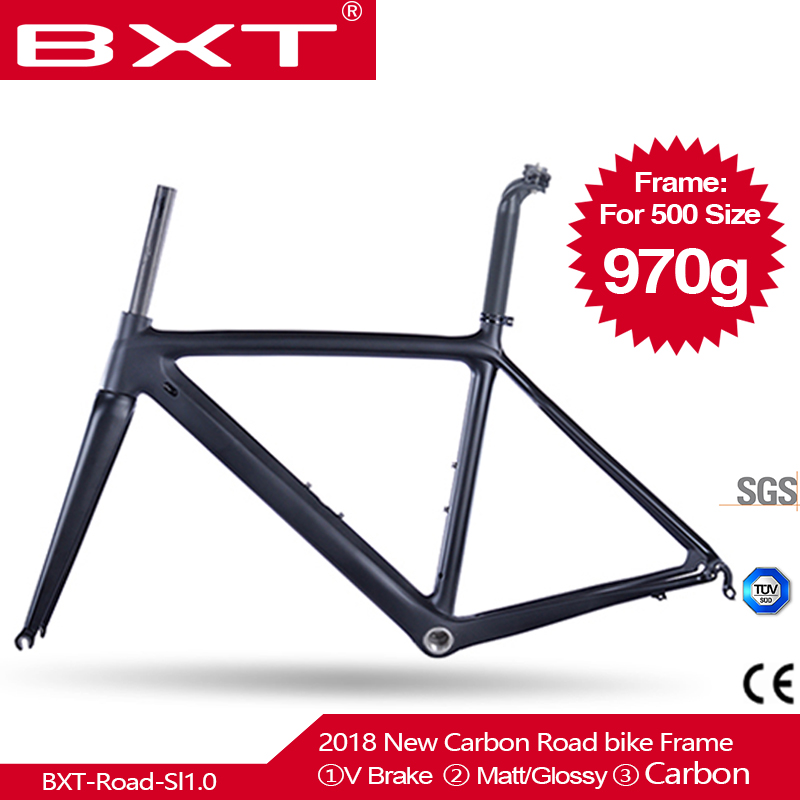 2018 New Model UD Full Carbon Road Bike Frames Racing Bicycle Carbon Framesets Cycling Road Bike Frames with Fork Seatpost Clamp 2018 carbon fiber road bike frames black matt clear coat china racing carbon bicycle frame cycling frameset bsa bb68