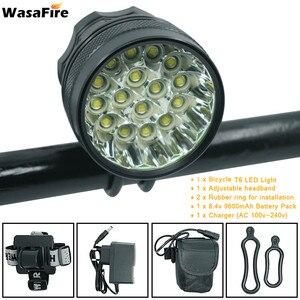 Велосипедный светильник WasaFire, 40000 лм, 16 * XML-T6, светодиодный, 3 режима, передний, велосипедный, головной светильник, Аксессуары для велосипеда, ...