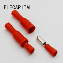 Hot 50 X Red Male Female Bullet Connector Crimp Terminals Wiring