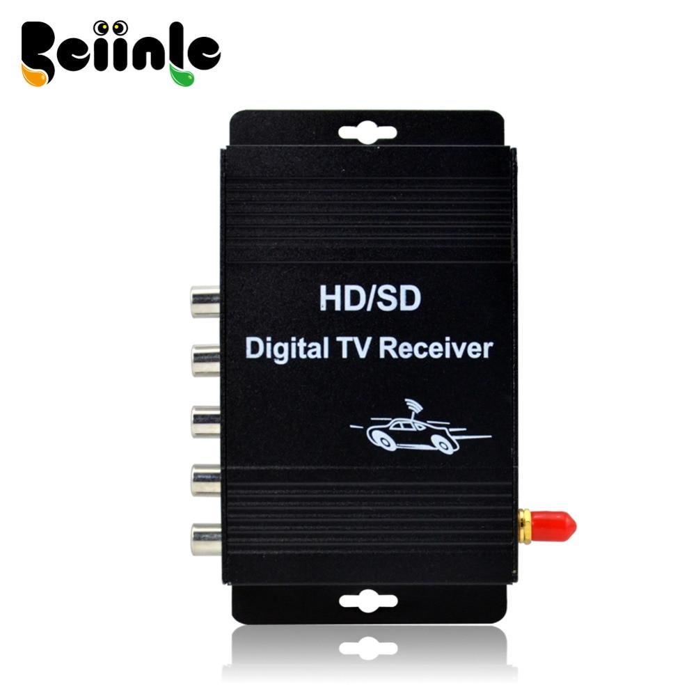Car  Four Tuner Way Single Antenna ISDB-T Digital TV Receiver Box  for Brazil usb tv tuner digital tv receiver