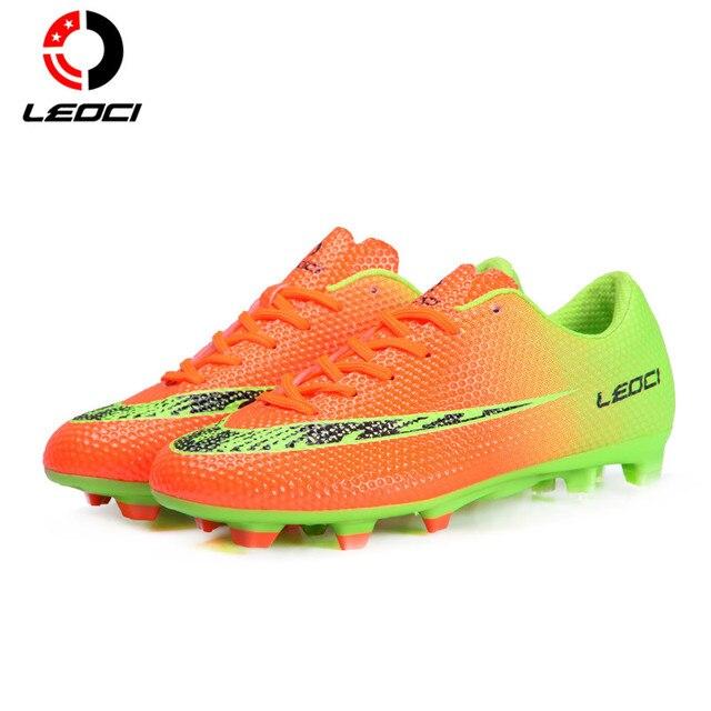 Leoci hombres mujeres niños botas de fútbol botas de fútbol zapatos de  entrenamiento f firma ronda b21c1db0472ae