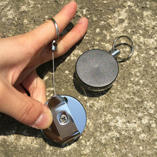 Bycobecy Stainless Steel Round Smart Key Holder Fashion Organizer Car Case Keychain Wallets High Quality Stretchable