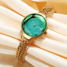 Новый Для женщин часы браслет сапфир Дамы Золото Наручные часы для женщин Нержавеющаясталь женский часы Водонепроницаемый reloj mujer