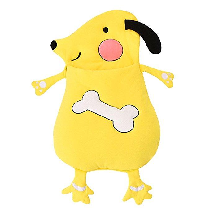 Yellow Dog Puppy Newborn Infant Baby Cartoon Quilted