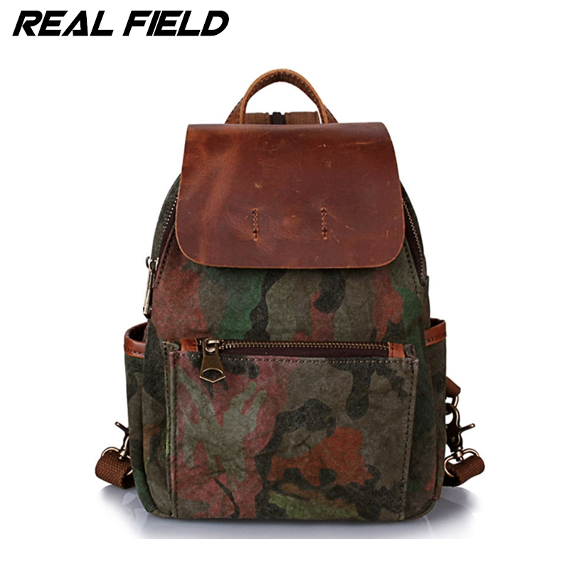 Real Field Designer Men Camouflage Small Backpack Women Canvas Backpacks Mochila Style School Bags Shoulder Bag Mochilas Mujer 8 men canvas backpack women shoulder bag korean middle school students leisure computer backpacks bag man bolsas mochilas teenager