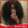 Natural wig middle part 3-4inch kinky curly black/brown2#/blonde 613#&27# 12-26inch heat resistant full desnity hair stock