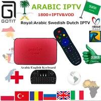 GOTiT TVONLINE Pro + IPTV En Streaming Boîte Meilleur Arabe Royal IPTV 1850 + Europe Afrique Turc Néerlandais Suédois KO Mag254 Smart IPTV Boîte