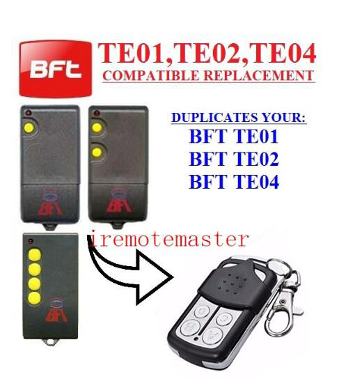2pcs For BFT TE01 / BFT TE02 / BFT TE04 remote control, CLONE transmitter free shipping