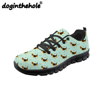 doginthehole Women's Running Shoes Beagle Pet Dog Printing Outdoor Sport Shoes for Fitness Female Sneakers Flat Breathable Mesh