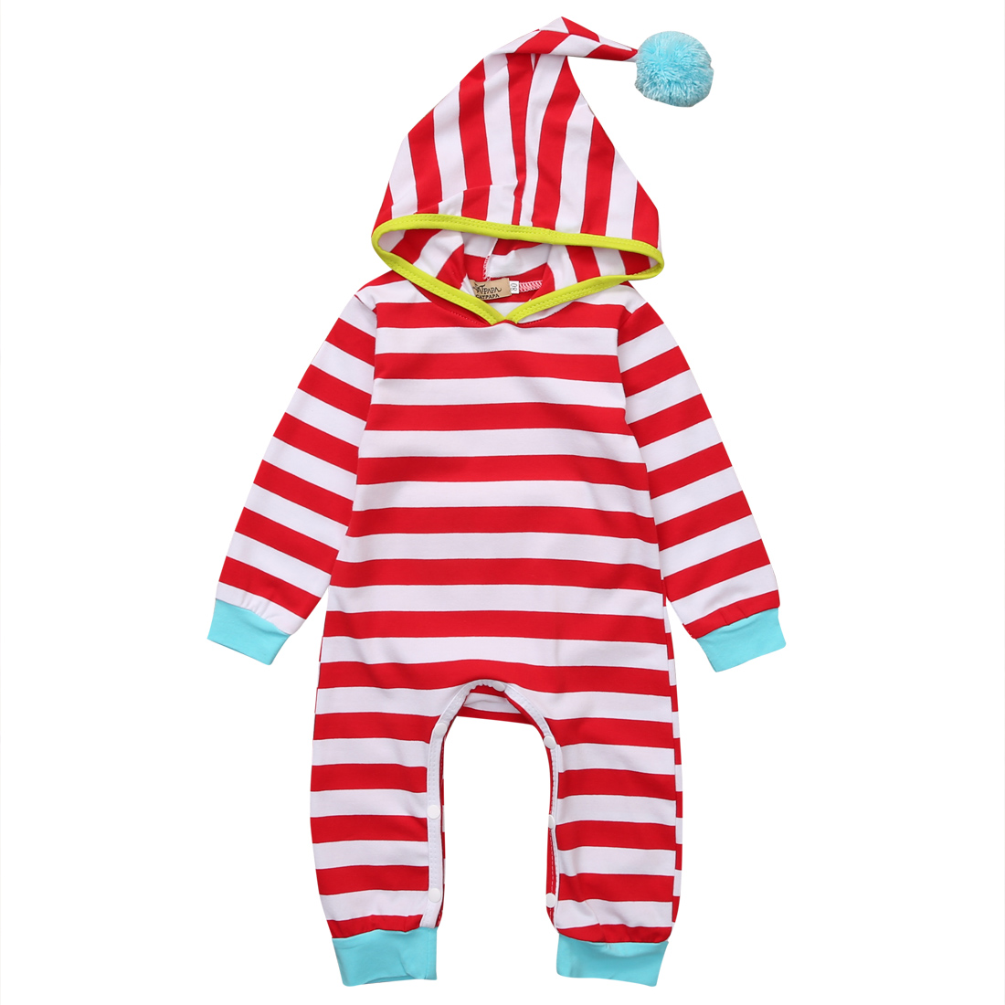 2017 Hot sales Newborn Baby Infant Boy Girl Clothes Long Sleeve Romper Hooded Jumpsuit Outfits Baby Clothing New