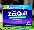 Free shipping  VICKS ZzzQuil Nighttime Sleep-Aid Diphenhydramine HCI 48 Liquicaps