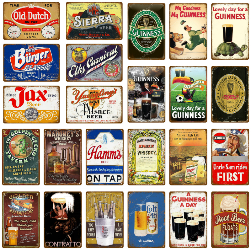 Cheers Beer Metal Signs Painting Art Poster Antique Plate Club Pub Home Decorative Plate Tiki Bar Party Grill Retro Wall Sticker(China)