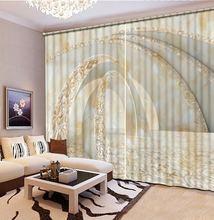 Индивидуальные 3d занавески для гостиной спальни однотонные